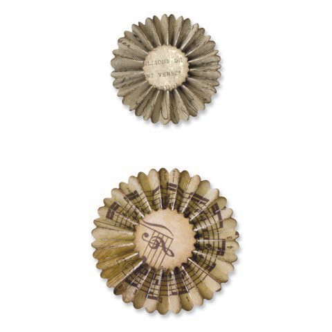 Sizzlits Decorative Strip Die - Mini Paper Rosettes (2 Sizes)