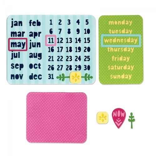 Thinlits Die Set 9PK – CALENDAR by Rachael Bright