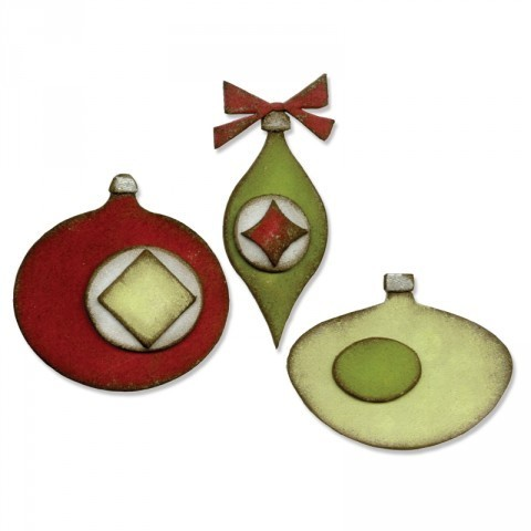 Bigz Die Retro Ornaments by Tim Holtz