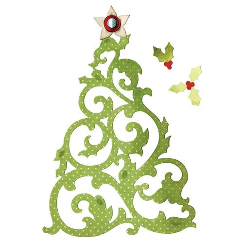 THINLITS DIESET 5PK CHRISTMAS TREE by JEN LONG