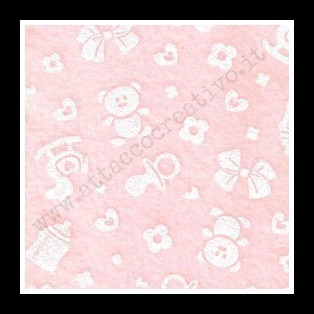 PANNO 1mm 30X40 ROSA BABY