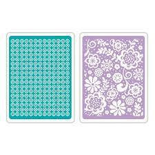 TEXTURED EMBOSSING 2PK SWEET DOTS & FLORALS SET