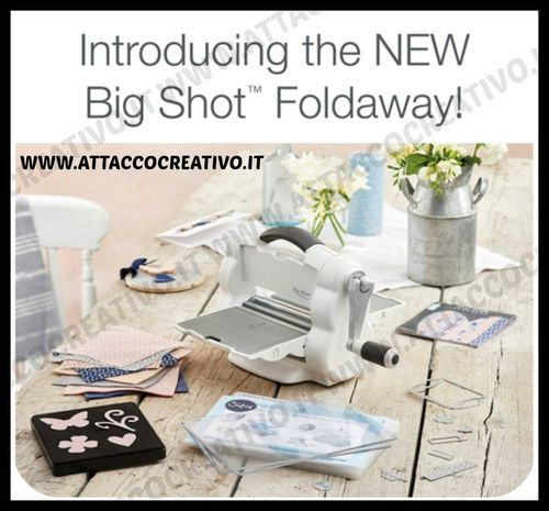 MACCHINA Sizzix Big Shot STARTER KIT FOLDAWAY  (White & Gray)