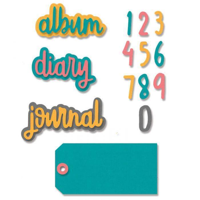 Thinlits Die Set 9PK - Journal Phrases