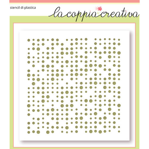 Coppia creativa Stencil RETRO DOTS