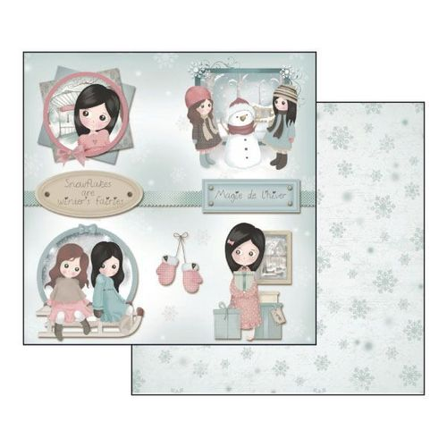 Foglio Double Face Emma e Camille Winter 	31,5cmX30,5cm
